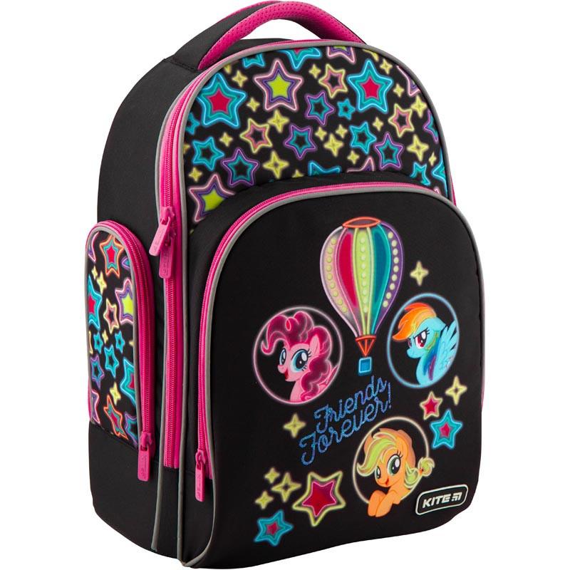 016a405f1b4e Рюкзак полукаркасный школьный Kite Education Little Pony для девочек  36x29x16 см 16,5 л (LP19-706S)