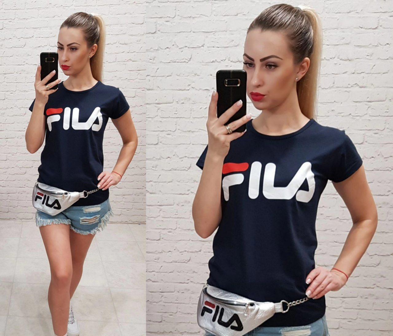 Женская футболка  реплика Fila 100% катон качество турция, фото 1
