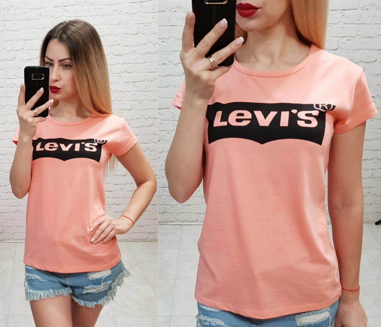 Женская футболка  реплика Levi's 100% катон качество турция