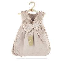 Полотенце махровое для рук Платье с бантом 33х33 см SH88238 бежевое 132183
