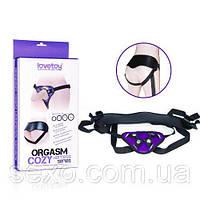 Труси для страпона - Orgazm Cozy Harness Flesh Dildo Purple