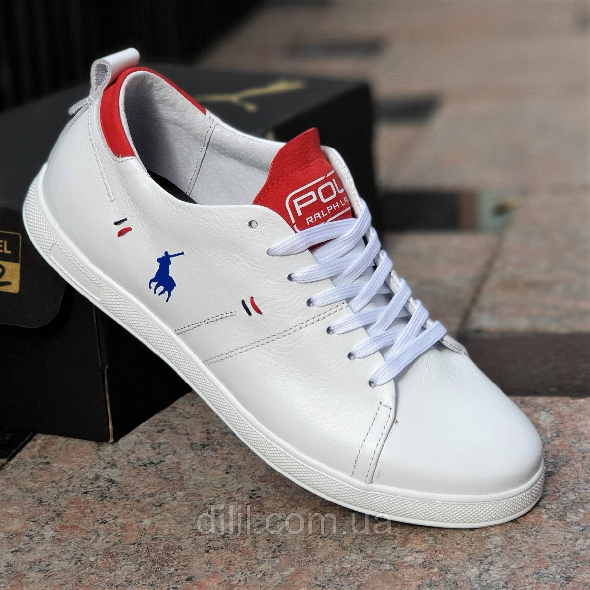 023cd46d Кроссовки мужские кожаные белые Polo: продажа, цена в Хмельницком ...