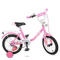 """Велосипед детский 14"""" Profi Y1481 Flower, розовый"""