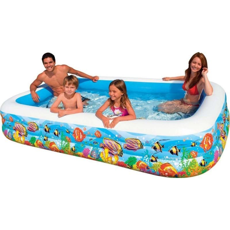 """Детский надувной бассейн """"Тропический риф"""" Intex 58485 305 х 183 х 56 см"""