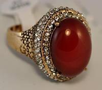 КО3120-1 кольцо размерное с красным камнем