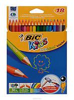 Цветние карандаши Bic (18 цветов)