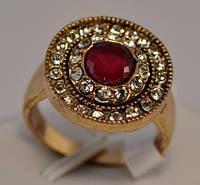 КО2500-1 кольцо размерное с красным камнем