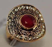 КО2500-2 кольцо размерное с красным камнем
