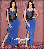 Вечернее платье с кружевом и гипюром
