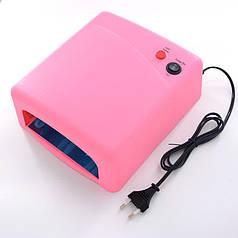 Ультрафиолетовая лампа для ногтей с таймером JSDA ZH-818A 36 Вт Розовый (hub_np2_0357)