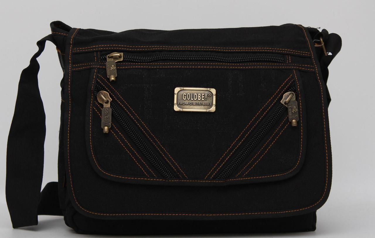e1033f9c7d38 Мужская сумка через плечо Gold Be Черная: продажа, цена в Фастове ...