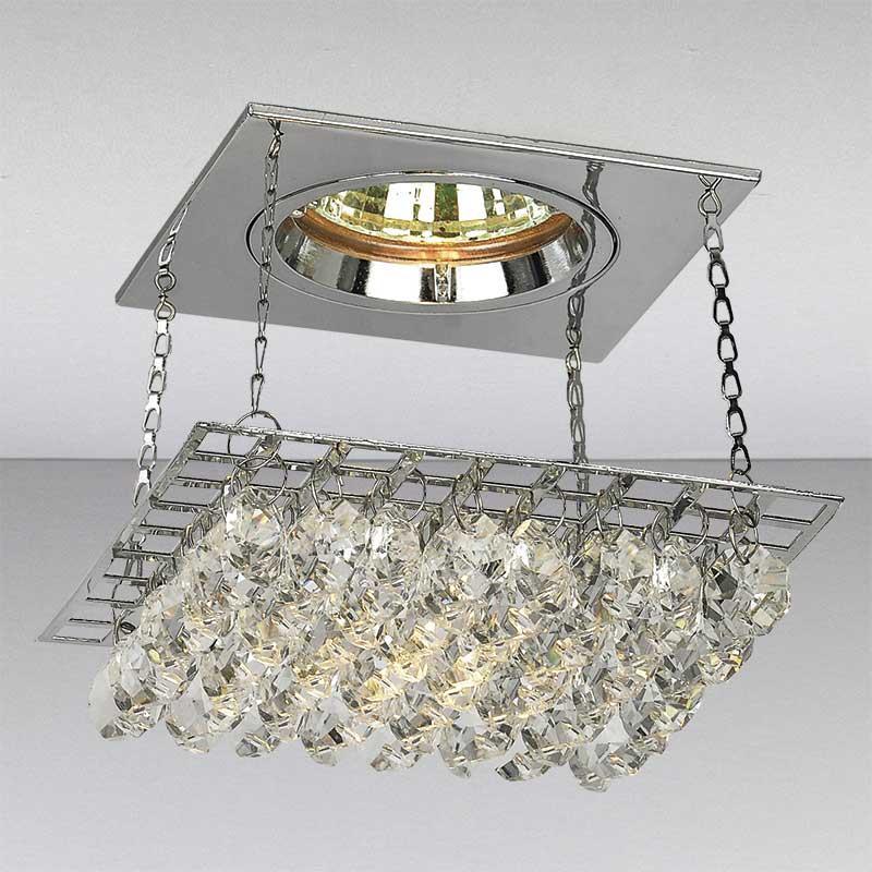 Точечный хрустальный светильник, хром LS-11143 CH/CL