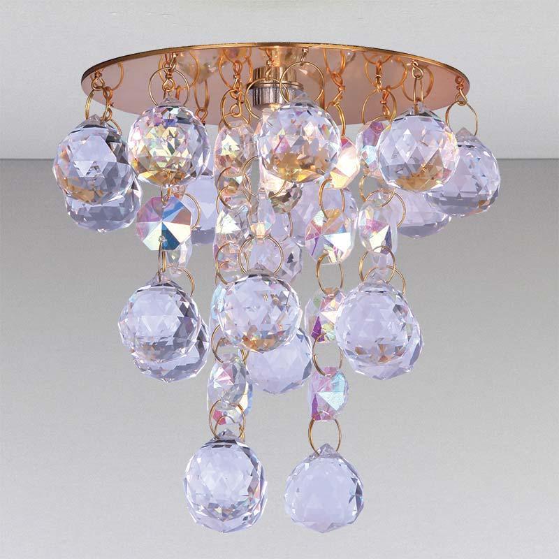 Точечный хрустальный светильник, золото LS-11176 GD/CL+RBG