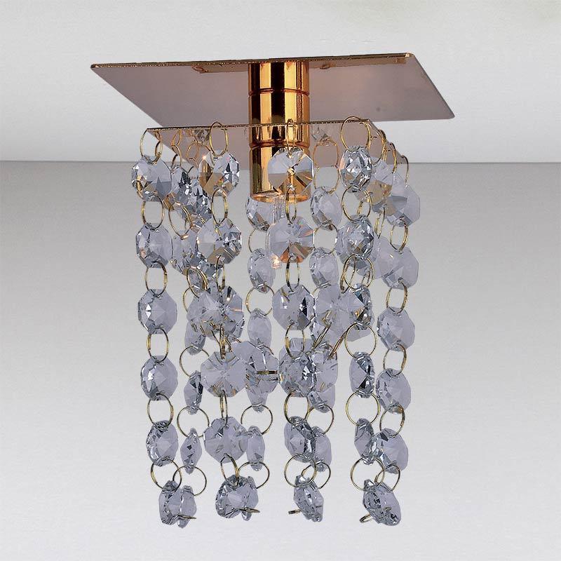 Точечный хрустальный светильник, золото LS-11179 GD/CL