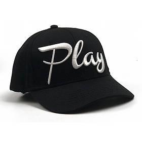 Кепка бейсболка с надписью Play черная