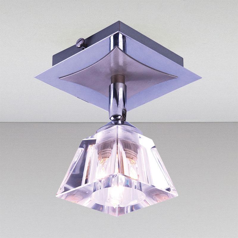 Точечный хромовый, поворотный светильник LS-11222 CH/CL