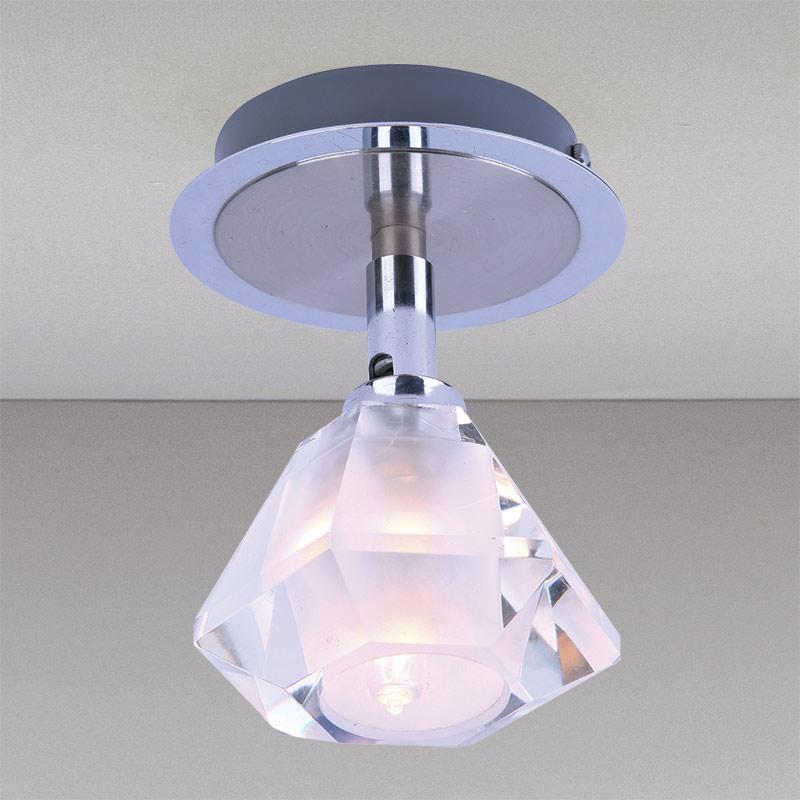 Точечный хромовый, поворотный светильник LS-11226 CH/CL