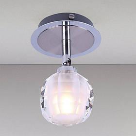 Точечный хромовый, поворотный светильник LS-11228 CH/CL