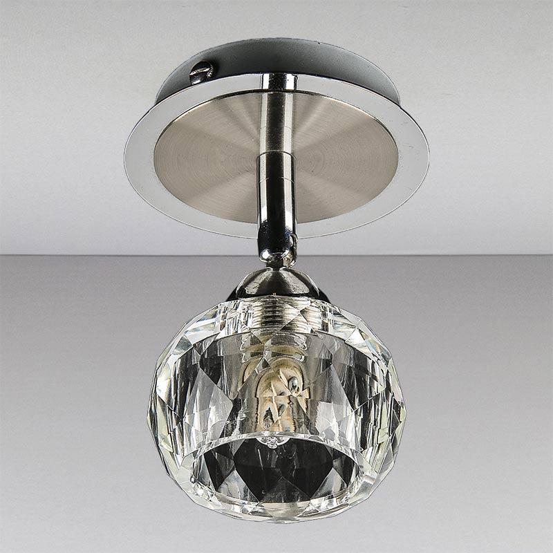 Точечный хромовый, поворотный светильник LS-11270 CH/CL