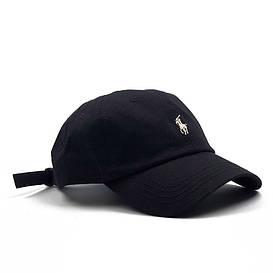 Бейсболка МК-1033 черная, белый лого