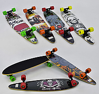Скейт-лонгборд С 32027 (6 видов), подшипник АВЕС-9, колёса PU, d=6.5 см