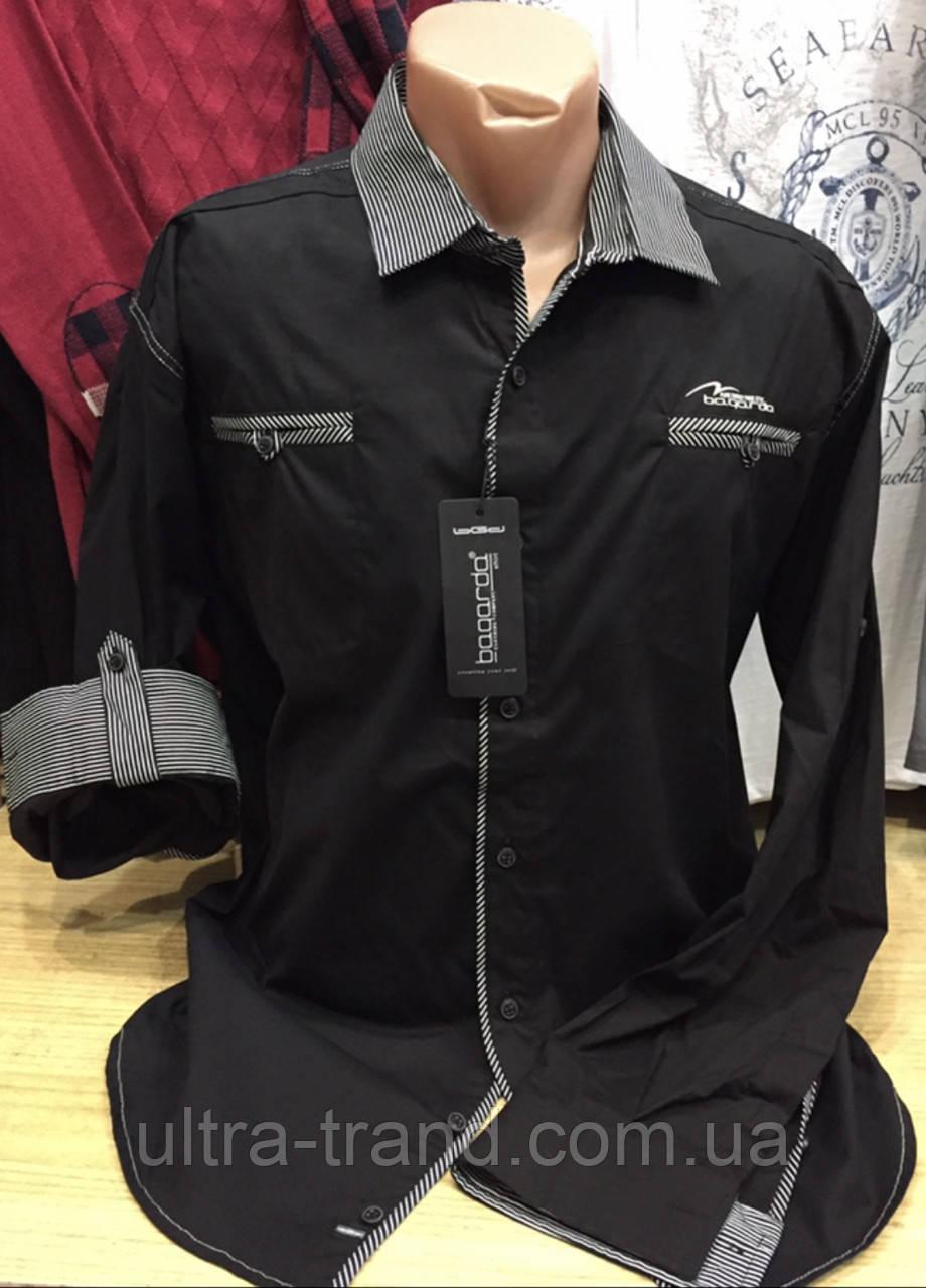 Мужские качественные котоновые турецкие чёрные рубашки