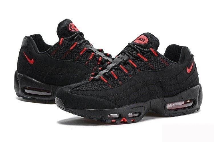 3255e207 Женские кроссовки Nike Air Max 95 Black Red Черные - SportBoom.com.ua -