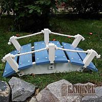 Декоративный мостик для ландшафтного дизайна (серо-голубой)