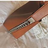 Сумка шоппер жіноча з ланцюгом (руда), фото 7