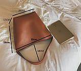 Сумка шоппер жіноча з ланцюгом (руда), фото 8