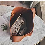 Сумка шоппер жіноча з ланцюгом (руда), фото 10