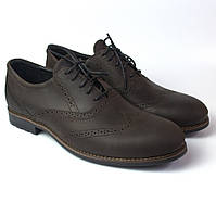 Туфли мужские коричневые броги кожаные демисезонная обувь Rosso Avangard Felicite Brown Crazy Leather, фото 1