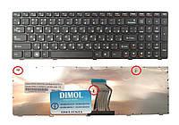 Оригинальная клавиатура для ноутбука Lenovo IdeaPad G570, G575, G770, G780, Z560, Z565 black