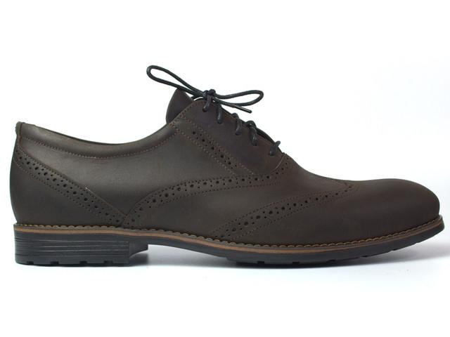 Туфли броги оксфорды кожа коричневые мужская обувь Rosso Avangard Felicite Brown Crazy Leather