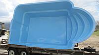Стационарный стекловолоконный усиленный бассейн 5,0х3,0 глубиной 1,5м.