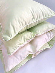 Комплект одеяло и подушка салатовый