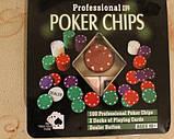 Набор для игры в покер 100 фишек +2 колоды карт, фото 2