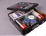 Набор для игры в покер 100 фишек +2 колоды карт, фото 4