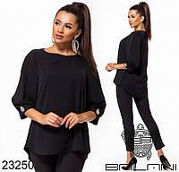 Жіноча вільна блуза з тканини твіл, фото 1