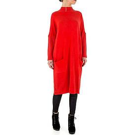 Женское платье свитер оверсайз от бренда Voyelles (Европа), Красный