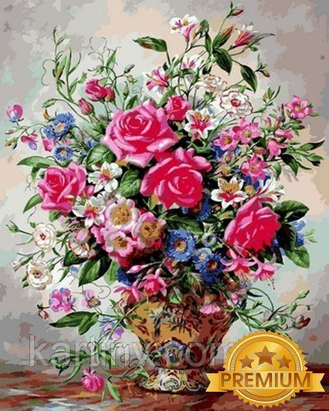 Раскраски для взрослых 40×50 см. Babylon Premium Розы и ...