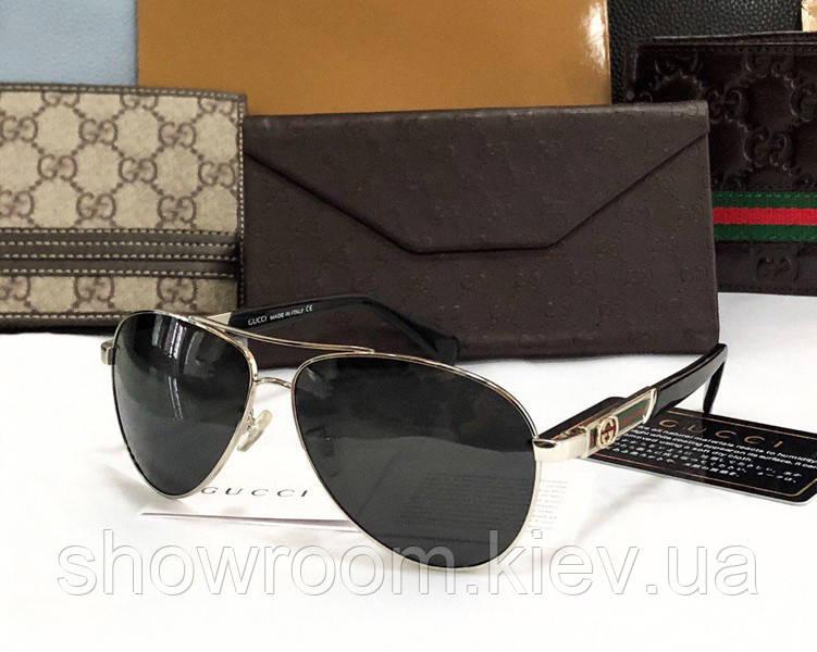 Мужские солнцезащитные очки в стиле Gucci (10005)