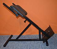 Тренажер гиперэкстензия для дома регулируемая, римский стул MALCHENKO 45°, фото 4