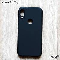 Оригинальный силиконовый чехол My Colors для Xiaomi Mi Play (черный) (микрофибра внутри), фото 1