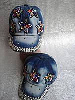 Кепка джинсовая гламурная