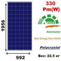 Cолнечная батарея, мощность-330Pm(W),AmeriSolar,AS-6P-330W