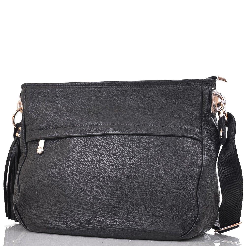 95150ab33775 Женская кожаная сумка через плечо WANLIMA Черная (W11027551390) - SENATOR в  Львове