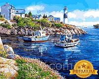 Рисование по номерам 40×50 см. Babylon Premium Морская бухта Художник Сун Сэм Парк
