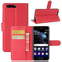 Чехол-книжка Litchie Wallet для Huawei P10 Plus Красный