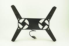 Охлаждающая подставка для ноутбука ErgoStand 202 с подсветкой Черная (1085)